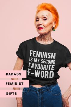 Find the perfect gift for the feminist in your life! 🎁✊ Shop empowering apparel and accessories that are as unique as she is 💜✨