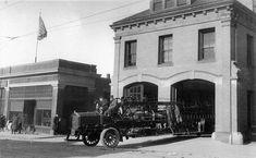 Brighton Allston Firehouses. Harvard Firehouse with two doors. 1916 Boston.