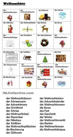 Weihnachten (Vokabular)