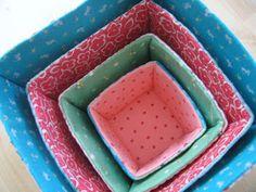 !!...Pequeno Mimo...!!: Como fazer cesta de tecido                                                                                                                                                     Mais