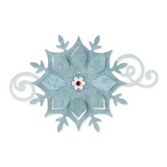 """Sizzix Bigz 658740 Snowflake Ornament die from the Favorite Things collection by Brenda Walton.  Approximate sizes: 4 5/8"""""""