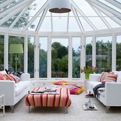 • Clear vision conservatory The sofas and table...