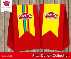 Instant Download Printable Play Dough Party Bag by ArtfulMonkeys