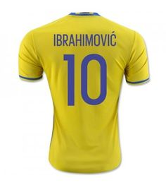 Zlatan Ibrahimovic Sweden home shirt for Euro 2016 New Football Shirts, Soccer Shirts, Soccer Jerseys, World Soccer Shop, World Cup Jerseys, Uefa Euro 2016, Jersey Shirt, T Shirt, Sweatshirt