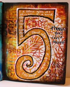 journaling with paint and inks