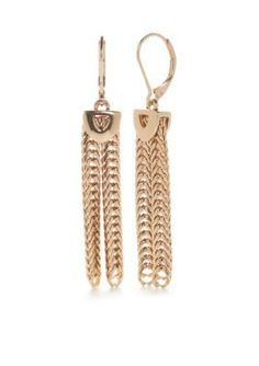 Napier  Gold-Tone Modern Contrast Chandelier Drop Earrings