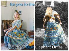c1347042c1  The Blue Elephant Dress  by Alice Halliday SIZE Photography  White Cat  Studio Hair  Rosa O Model  Kayleigh Robinson