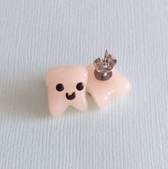 Handmade Tooth Earring Studs Teeth Gifts by PumpkinPyeBoutique, $15.00