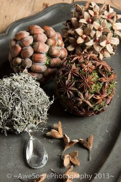 Wonderful idea to tinker with natural materials - Basteln - Christmas Time, Christmas Wreaths, Christmas Crafts, Christmas Ornaments, Merry Christmas, Acorn Crafts, Pine Cone Crafts, Autumn Crafts, Nature Crafts