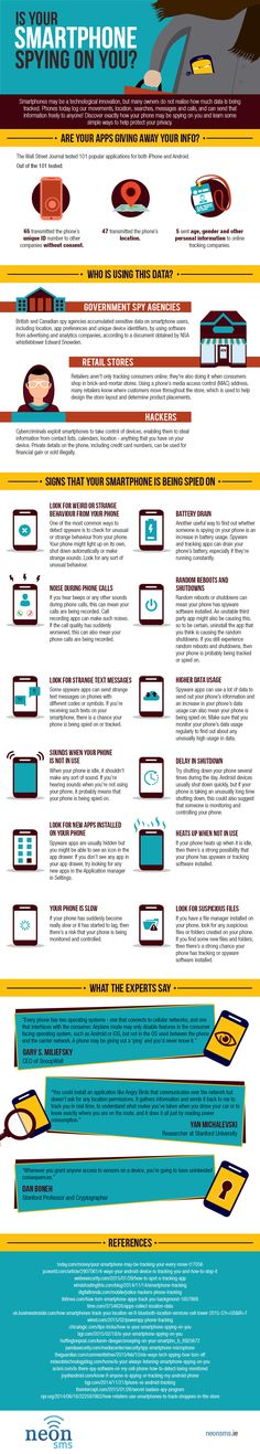 Is Your Smartphone Spy On You? #Infographic #Technology