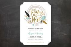 Feathered Nest Baby Shower Invitations by robin ott design at minted.com