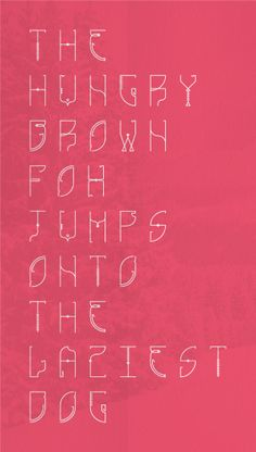 Picnick typeface by Nick Kelly, via Behance