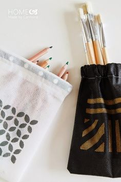 A step-by-step tutorial walks you through the easy sew instructions. But then the fun comes in the painting tips to make them pretty!