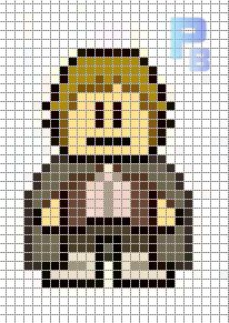 Sam Lord of Rings perler pattern - Patrones Beads / Plantillas para Hama