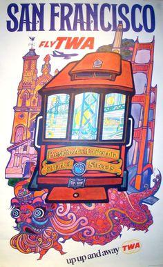 San Francisco by TWA, a vintage travel poster