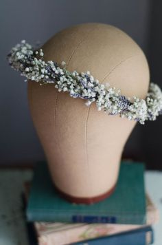 Babys Breath with Lavender Flower Crown / Hair by WoodlandSecrets #weddinghairstyles
