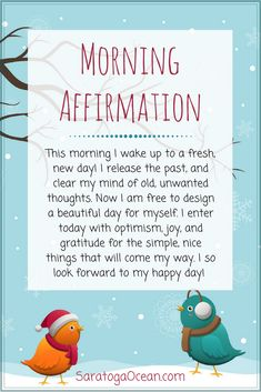 Here's a morning affirmation to set your mood in a happy, positive direction. Be optimistic, and notice all of the nice, small things that come your way each and every day. Appreciation and gratitude are wonderful, emotional elixirs of happiness! Positive Affirmations Quotes, Morning Affirmations, Affirmation Quotes, Positive Quotes, Motivational Quotes, Inspirational Quotes, The Words, Positive Thoughts, Positive Vibes