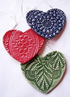 #ceramics #I Heart Market #Durban Beautiful ceramic hearts by Token at the I Heart Market.