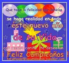 Tarjetas de Cumpleaños . Postales e Imágenes para Facebook: 1-Tarjetas de cumpleaños -Toda la felicidad que anhelas