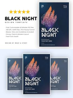 Party Flyer, Your Image, Photoshop, Layout, Templates, Night, Free, Color, Black