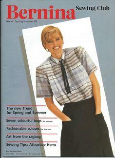 Bernina Sewing Club No. 4 Spring/Summer 1985 Kimono Buttonholing 7 Colorful Bags #Bernina