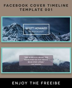Facebook Cover Timeline Template Photography Fully editable and all layers are Organized in PSD Template. Easy to edit. Easily customize it for any purpose. via @creativetacos Creative Facebook Cover, Facebook Cover Template, Psd Templates, Timeline, Purpose, Layers, Photoshop, Organization, Easy