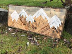 Rustic Wood Mountain Wall Art by Bayocean Rustic Design