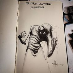 Trichotillomania by Shawn Coss, #inktober series.