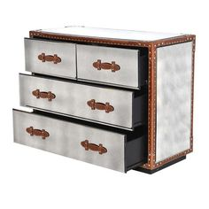 The Flying Dutchman Mirror & Leather Trunk Chest of Drawers