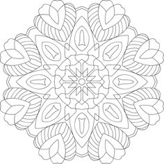 """This mandala will bring you luck and love! Color with care and feel free to share. :) Also, it's believed that just thinking positively has a """"good luck"""" effect. Try it with some affirmations like """"I deserve to be lucky."""" and """"Positive things always happen to me."""""""