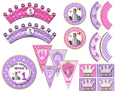 Sofia the first party kit sofia the first by blueangeldigitals