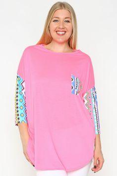 Hot Pink Pocket Tunic - #blondellamydean #plussizefashion #plussize #curves