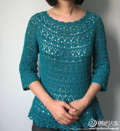 """Kraina wzorów szydełkowych...Land crochet patterns. """"cookieOptions = { msg};"""": bluzka"""