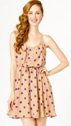 Purple polka dots? Yes, please!