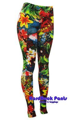 Calça Legging Cintura Alta Estampa Floral #calça #legging #estampada #florida #floral #flores #jardim #primavera #spring #flowers #colorida #moda #feminina