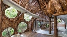 Treehouse gallery in #Mexico gives art a warm welcome to the jungle. #architecture