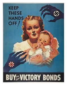 Canadian WW2 Military Poster Keep These Hands Off