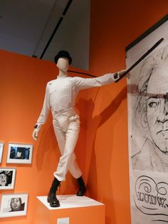 Costume from A Clockwork Orange at the Kubrick Exhibition