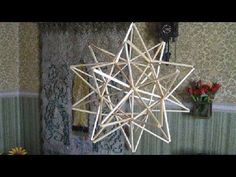 DIY Himmeli star to make Diy Arts And Crafts, Paper Crafts, Diy Crafts, Patriotic Decorations, Christmas Decorations, Geometric Construction, Bohemian Christmas, Star Diy, Holiday Crochet