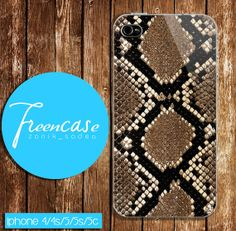 snake skin pattern case for iphone 4 caseiphone  4s by FreenCase, $15.55