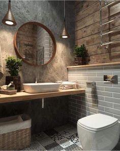 Basement Toilet, Luxury Bathtub, Bathroom Luxury, Boho Bathroom, Bathroom Small, Bathroom Inspo, Cool Bathroom Ideas, Basement Bathroom Ideas, Bathroom Pink