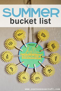 Summer Bucket List Wreath via www.seevanessacraft.com