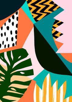 Ideas design illustration background print patterns for 2019 Art Et Illustration, Pattern Illustration, Illustrations, Pattern Art, Abstract Pattern, Abstract Art, Pattern Design, Jungle Pattern, Abstract Designs
