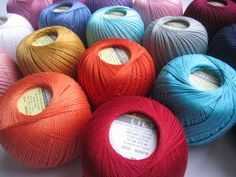 Nice and soft mercerized cotton for crochet. Lily collection is popular because of the big color variety. 246 yards (225 meters)50 grams (1.76 ounces)Gauge: stsNeedle size 1.75 - 2mm (US 00)Yarn is made in Turkey Crochet Hooks, Knit Crochet, Bobble Hats, Fur Pom Pom, Begonia, Needles Sizes, Something Beautiful, Knitting Needles, Are You Happy