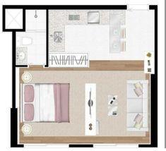 House Layout Plans, House Layouts, House Plans, Home Design Decor, Modern House Design, Lofts, Small Space Living, Living Spaces, Studio Apartment Floor Plans