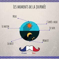 Leçon du jour : les moments de la journée. Lección del día: los momentos del día. #Français #Francés #French #Language #Idioma #FLE #DELF #DALF#Francé... - Francés Online - Google+