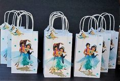Jasmine INSPIRED 12pc Disney princess Aladdin Birthday Party Favor hard board bags Goody Gift 3D Bags hand made real picture