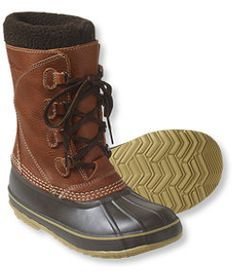 #LLBean: Women's L.L.Bean Snow Boots with Tumbled Leather love these.  they keep me warm and dry while shoveling 10 feet of snow in Boston