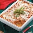 Baked Spaghetti Casserole - easier with elbow mac and no sour cream - might try without the cream of mushroom soup next time too