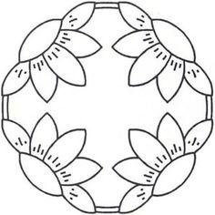 17 New Ideas Patchwork Sin Agujas Pattern Wool Applique, Applique Patterns, Applique Quilts, Applique Designs, Quilting Designs, Quilt Patterns, Embroidery Designs, Flower Patterns, Sewing Patterns